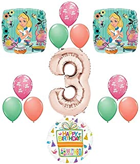 Sponsored Ad - Alice in Wonderland Tea Time 3rd Birthday Party Supplies Mad Hatter Balloons Decoration