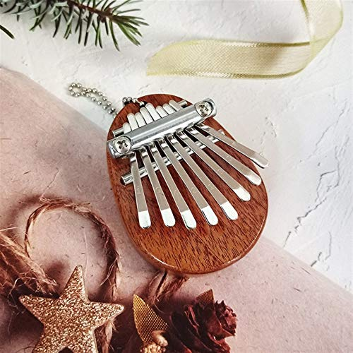 Kalimba, Daumenklavier Mini Kalimba 8 Keys Daumenklavier großer Ton Finger Keyboard Musikinstrument Niedlich Zubehör Anhänger Geschenk for Kinder (Color : Brown)