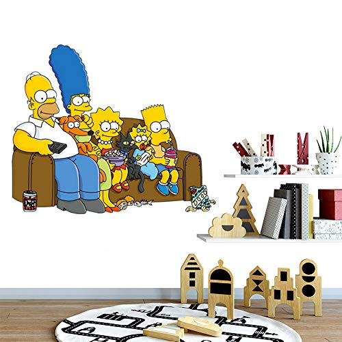 Bart simpson stickers The Simpsons character style Homer Bart Lisa Marge Maggie Wall Decal Sticker Decal serie de televisión animada