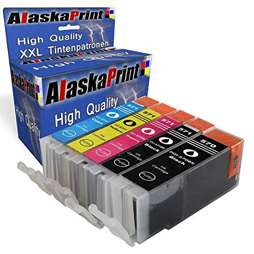 Alaskaprint 5 Druckerpatronen Komp. für Canon PGI-570 CLI-571 für Canon PIXMA MG7700 MG7750 MG5700 MG5750 MG5751 MG5752 MG5753 MG6850 MG6851 MG6852 MG6853 TS5000 TS5050 TS5051 TS5053 TS5055 TS6050
