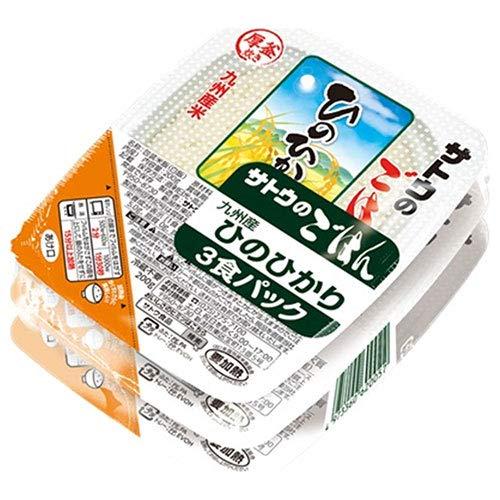 サトウ食品 サトウのごはん 九州産ひのひかり 3食パック (200g×3食)×12個入×(2ケース)