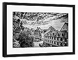 artboxONE Poster mit Rahmen schwarz 60x40 cm NÜRNBERG
