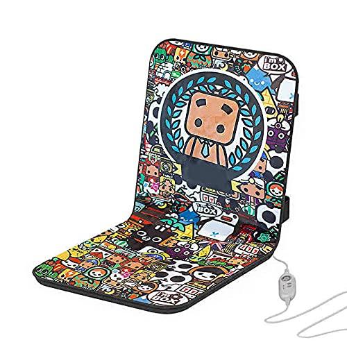 TDMYCS Beheiztes Sitzkissen mit intelligentem Temperaturregler und 6 Temperatureinstellungen Komfortables und weiches Flanell sicherer elektrischer Heizmatte für Bürostuhl (Color : A)