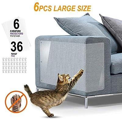 """D.F.L Cat Scratch Guards Furniture Scratch Guards 6Pack X-Large Cat Scratch Deterrent Pet Couch Protector Cats Furniture Protector Cat Repellent for Furniture Cat Scratching Pads (XL:17"""" L x 12"""" W) from D.F.L"""