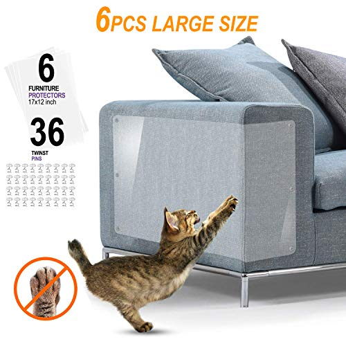 Protector Sofa Gatos - 6pack X-Large Protectores Muebles para Gatos - Pet Couch Protector (17in X 12in)
