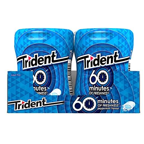 Trident Menta- Chicles sin Azúcar con Sabor a Menta - 6 Botes de 72 g