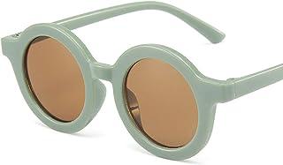 Hongxiafei - Lindo moda ronda gafas de sol bebé niño niña retro colorido redondo gafas de sol clásico lindo niños gafas 2021 nuevo