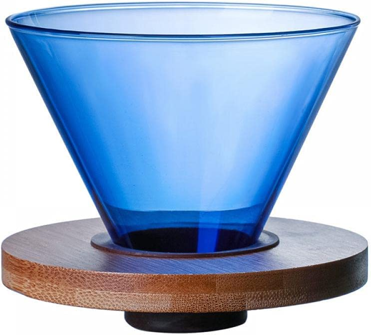Mozacona Glass Pour Over Coffee with Minneapolis Mall Dripper Safety and trust Filter Walnu