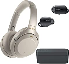 Sony WH-1000XM3 Wireless Noise-Canceling Over-Ear Headphones (Silver) with Sony True Wireless Noise Canceling Headphones (...