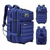 Elitex Mochila 25L Tactica Militar Color Azul Bandera USA Impermeable para Deporte,...