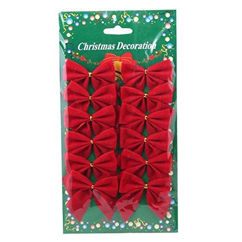 Luoem terciopelo lazos árbol Navidad lazos bowknots
