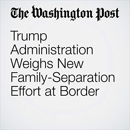 Trump Administration Weighs New Family-Separation Effort at Border copertina
