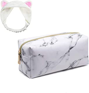 e0d01ec1396b Marble Cosmetic Makeup Bag, Travel Cosmetic Pouch Multifunctional Cosmetic  Organizer Portable Make Up Case Coin