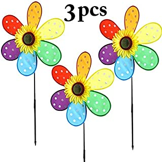 Party Favors - 3pcs Kid 39 S Pinwheel Fashionable Dot Sunflower Windmill Decor Wind Spinner - Dark Dolphin Giraffe Retirement Office Ducks Italian Treasure Squishy Incredibles Sports Sto