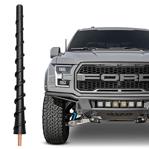 VOFONO Short Antenna Compatible with Ford F-150 F150 2009-2021, 7 Inch Spiral Flexible Antenna Mast Replacement