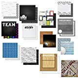 Custom Bundle Set of 13 Volleyball Themed Sports 12' x 12' Scrapbook Papers - from Various Vendors