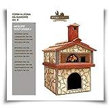 artistica salernitana Forno a Legna da Giardino per Esterno Pizza napoletana (Diametro Interno 120 cm)