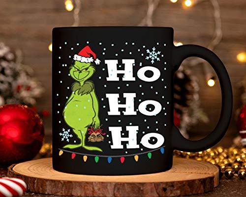 Lplpol Grinch Ho Ho Ho Ho Tasse Kostüm Weihnachtsmann Weihnachten Süßigkeiten Nikolausmütze Keramik Kaffee Tee Tasse Weihnachten 2020 Xmas Santa Claus Geschenk für Männer Frauen