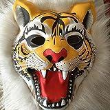 Ange-Y haute qualité Fantaisie Maison Masque animal en peluche tigre Masque singe lion Masque loup masque d'Halloween en plastique masque d'Halloween Party cosplay costume scène performance masque mas