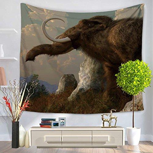 KHKJ Tapiz de Alfombra de Montaje en Pared de Elefante Rectangular Rectangular Cubierta de Cama patrón de mamut decoración del hogar Estera de Yoga de Playa A4 200x150cm