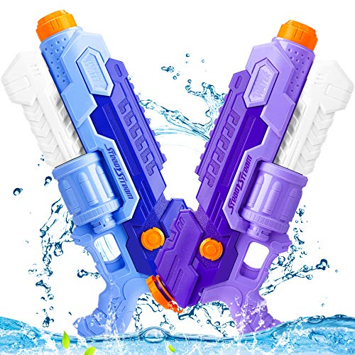 Water Pistol Gun, 35 FT Long Range Water Fighting Toys for Kids 2000CC High Capacity Water Guns for Adults 2 Pack Super Squirt Guns for Swimming Pool Beach Water Fighting Party