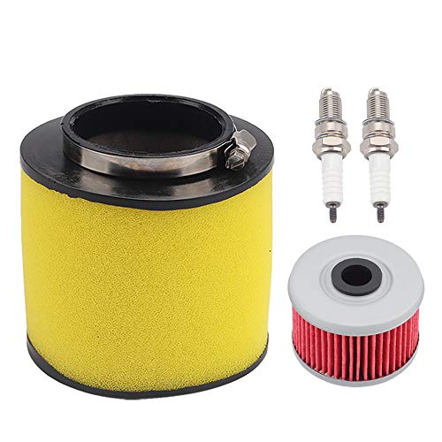 Tvent TRX350 Air Filter Replacement for Honda Foreman 350 400 450 TRX400 TRX450 17254-HN5-670 with Oil Filter Spark Plug