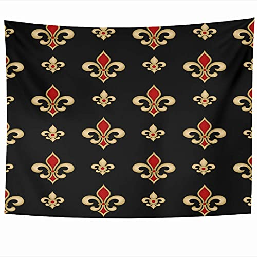 Tapices para colgar en la pared Telón de fondo Francia Lis Emblema de lirio heráldico Fleur Business Naturaleza Texturas para sábana roja Tapiz real Manta de pared Decoración del hogar Sala de estar D