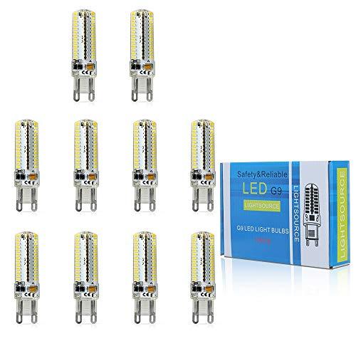ELINKUME 10 pack 104 * 3014 SMD 7W lampadina LED G9 bianco caldo 3000k Risparmio Energetico 510 lumen 360 Fascio luminoso AC200-240V