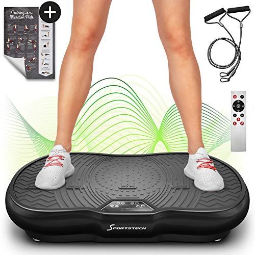 Plateforme vibrante VP200 technologie oscillation Bluetooth, Affiche incluse, sangles cordes de traction télécommande, haut-parleurs...