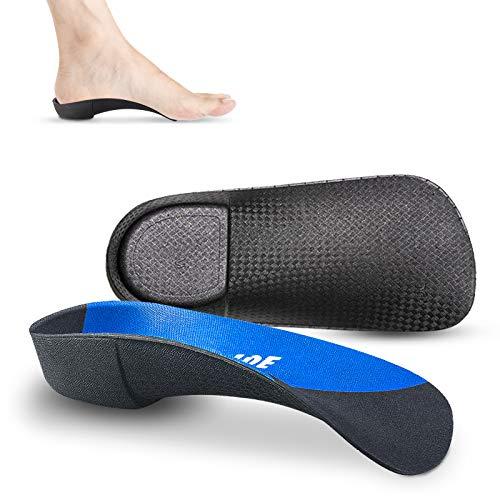 3/4 Orthopädisch Einlegesohlen Hohe Fußgewölbe Sohlen, Damen Herren Medizinische Schuheinlagen für Plattfüße, Plantar Fasciitis, Fersensporn, Fußschmerz