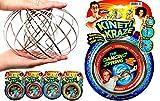 JA-RU Kinetic Flow Ring Sensory Toys Stainless Steel Stress Relief Toys (Pack of 1 Unit Assorted) Sensory Rings Metal Slinky Fidget Bracelet Arm Slinky Spiral Bracelet Party Favor | Item #785-1sl