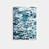 XWArtpic Nordic Poster Landscape Canvas Painting Poster and Prints Blue Sea Wall...