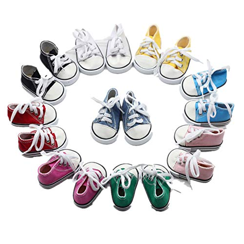 Fully 3 Paare Puppen Schuhe Schnüren Turnschuhe für 18 Zoll 18