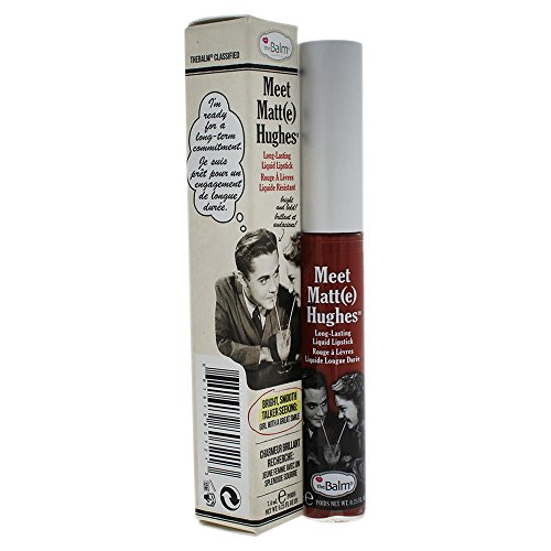 theBalm Meet Matte Hughes Liquid Lippenstift, Trustworthy,1er Pack (1 x 7.4 ml)