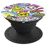 emoji - happy emoji brand Graffiti Style Hip Hop Kunst - PopSockets Ausziehbarer Sockel und Griff für Smartphones und Tablets