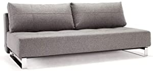 INNOVATION LIVING Canapé Design SUPREMAX Deluxe Excess Lounger Gris Twist Charcoal Convertible lit 155 * 200 cm
