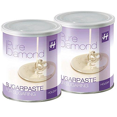 Zuckerpasten Pure Diamond Soft 2 x 1 kg Sugaring die effektive langfristige Haarentfernung ohne Vliesstreifen mit der Flicking Technik