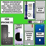 Juego de batería para iPhone XS, 2658 mAh, con juego de herramientas, funda, cristal protector, adhesivo y junta.
