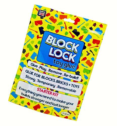 Block Lock ® Juguete Pegamento para Lego ®, Mega Bloks, Kinex y Otros Juguetes, Bloques de construcción Ladrillos 30ml