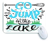 Mabby マウスマット ゲーミング オフィス マウス パッド,Go jump in the lake,Non-Slip Rubber Base Mousepad for Laptop Computer PC Office,Cute Design Desk Accessories