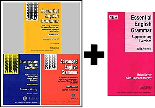 Cambridge Essential + Intermediate + Advanced English Grammar (Combo Pack of 3 Books Essential English Grammar,Intermediate English Grammar and Advanced English Grammar) with Answers + Free Essential English Grammar - Supplementary Exercises