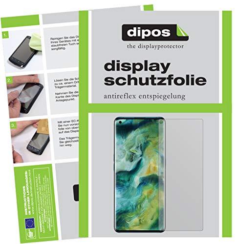 dipos I 5X Schutzfolie matt kompatibel mit Oppo Find X2 Pro Bildschirmschutz-Folie (Kleiner als das Glas, da Dieses gewölbt ist)