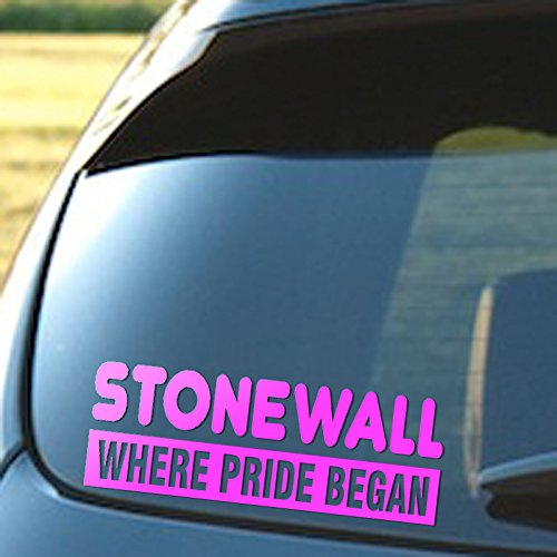 Signage Cafe Stonewall Where The Pride Began, Vinyl Decal, Gay Pride, Lesbian, LGBT