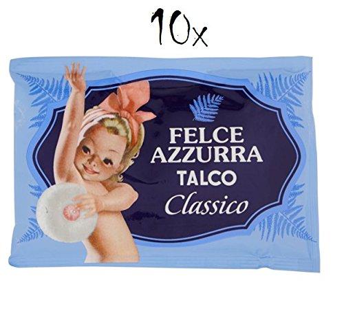 10x PAGLIERI Felce Azzurra Talco Classico Körperpuder Talkpuder 100 g Nachfüll