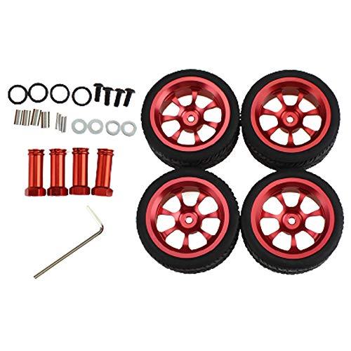 perfeclan Neumático de Rueda de 4 Piezas para 1:14 Wltoys 144001 RC camión Coche DIY Mejora Piezas de Repuesto