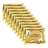 Adofect 30 Pairs Gold Eye Mask Power Crystal Gel Collagen Masks, Great For Anti Aging, Dark Circles & Puffiness