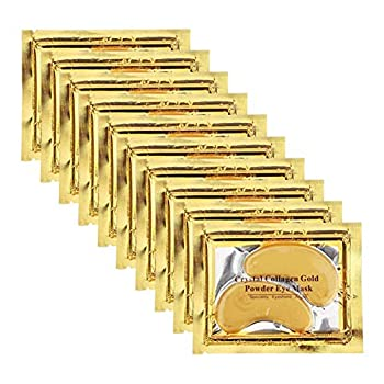 Adofect 30 Pairs Under Eye Gel Pads Gold Crystal Collagen Eye Mask  Anti-Aging Hyaluronic Acid 24k Gold Under Eye Mask Patches for Puffiness and Bags Reducing Dark Circles,Wrinkles Gold