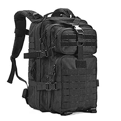 GOWARA GEAR Military Tactical Backpack,Small Army Assault Pack Molle Bug Out Bag Backpacks Rucksack Daypack with Tactical US Flag Patch Black