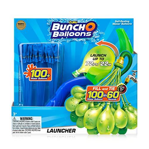 Zuru 1241 - Bunch O Balloons Launcher, Katapult inklusive mehr als 100 Wasserbomben, schleudert bis zu 22 Meter, sortiert in blau, grün oder orange, Wasserbomben und Launcher