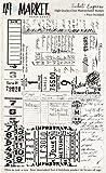 49 AND MARKET Sellos transparentes de 10,16 x 15,24 cm, Ticket Express, talla única
